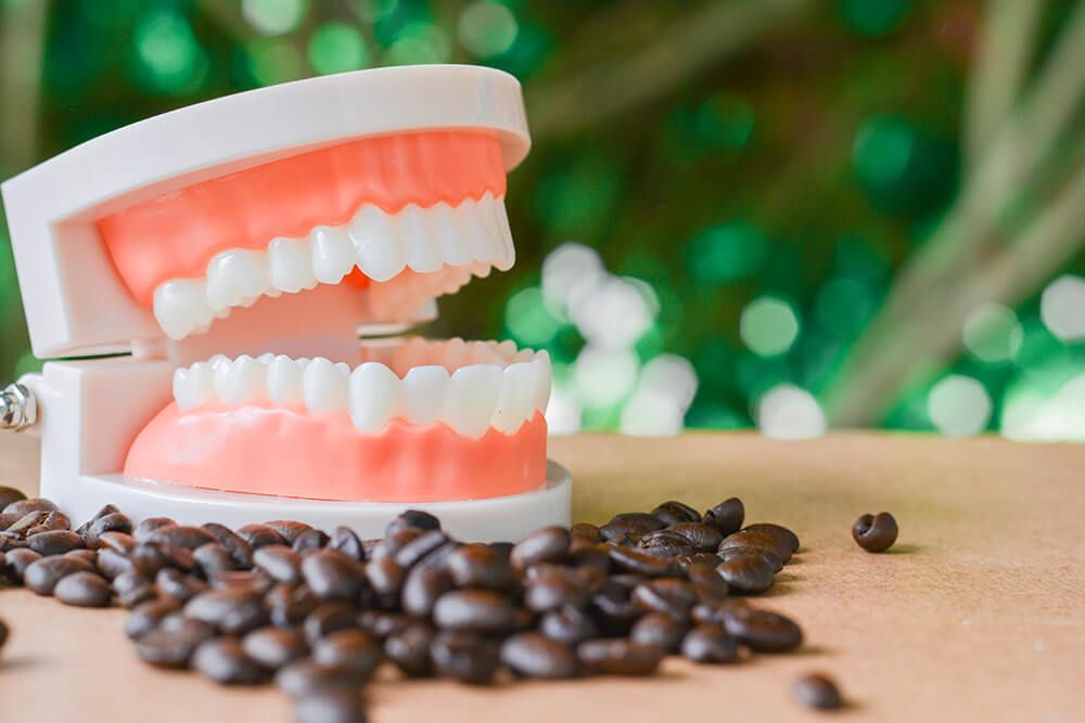 Foodstuffs lead to tooth discolouration